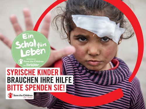 Ein Schal fürs Leben - Save the Children - Jetzt spenden