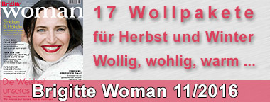 Brigitte Woman 11/2016 Wollpakete