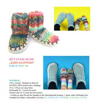 "Knitting Instruction Cottage-Shoes ""Kids-Slippers"""