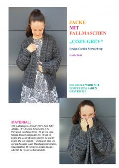 "Knitting Instruction Jacket ""Cozy-Grey"""