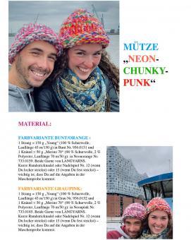 "Knitting Instruction Beanie ""Neon-Chunky-Punk"""