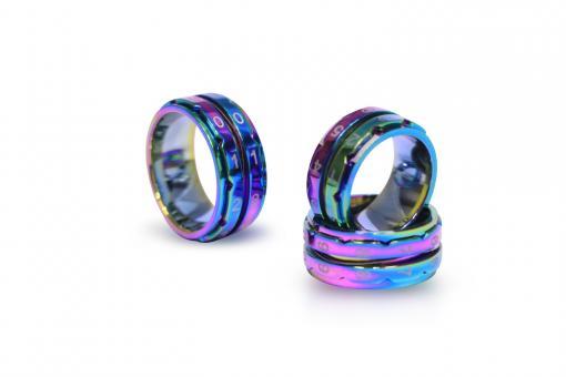 Reihenzähler Ring Regenbogen