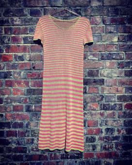 "Knitting Instruction Dress ""Striped Summer Dream"""