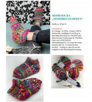 """Knitting Instruction Homesocks """"NOMORECOLDFEED"""""""