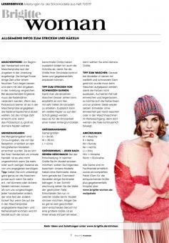Knitting Manuals Brigitte Woman 11/2017