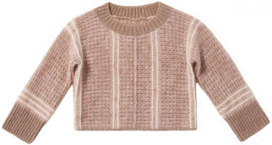 Crosswise Knitted Pullover