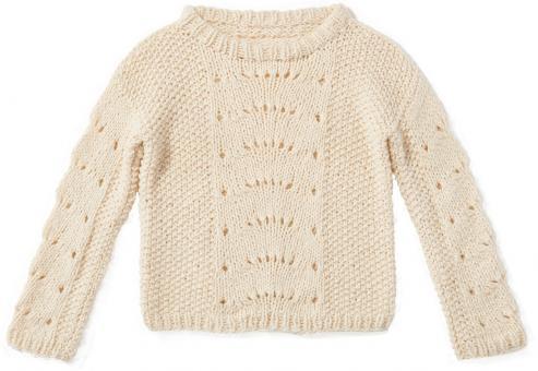 Wollweißer Pullover