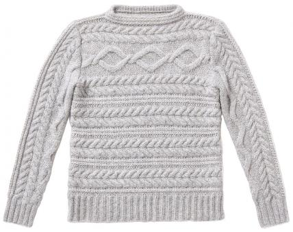 Cable-Stitch Pullover