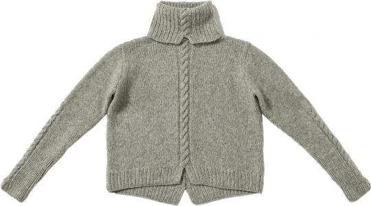 Sweater with Center Fisherman's Rib