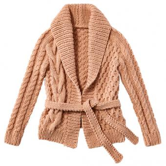 Jacket with pattern-mix