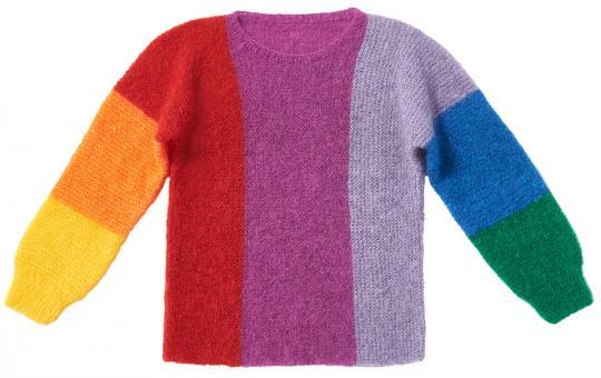 """Wollpaket """"Regenbogen-Pullover"""""""