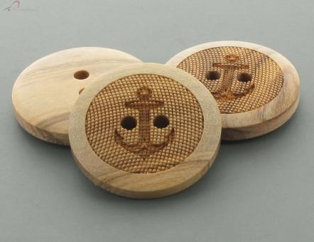 """Holzknopf """"Anker"""" 23mm"""