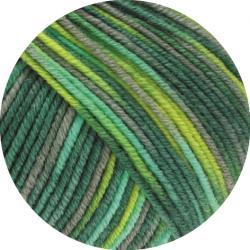 Cool Wool Print 813 zartgelb//rosa//silbergrau 50 g Lana Grossa Wolle Kreativ