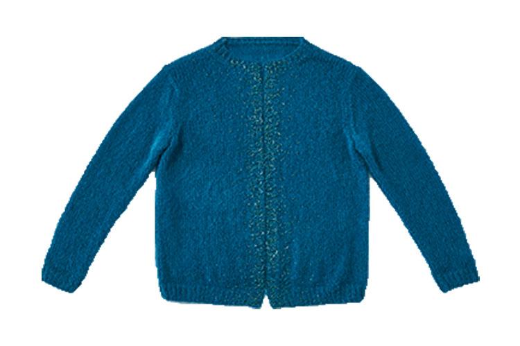 Brigitte Kreativ Jacke In Blau Ggh Strickmodell Rikes