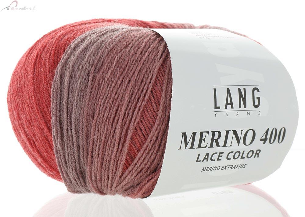 Lang Yarns Merino 400 Lace Color 17 Nadelstärke 2,5-3,5 50g LL 375m